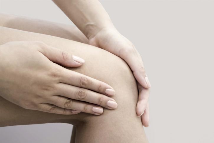 Griff an das Knie, Gelenkschmerzen