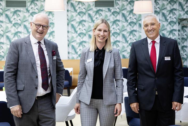 Portrait Mag. Erich Wegscheider, Elisabeth Rogy, MSc, Prim. Dr. Thomas Schartelmüller